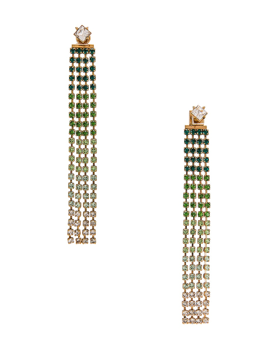 Image 1 of JACQUEMUS Monaco Earrings in Green