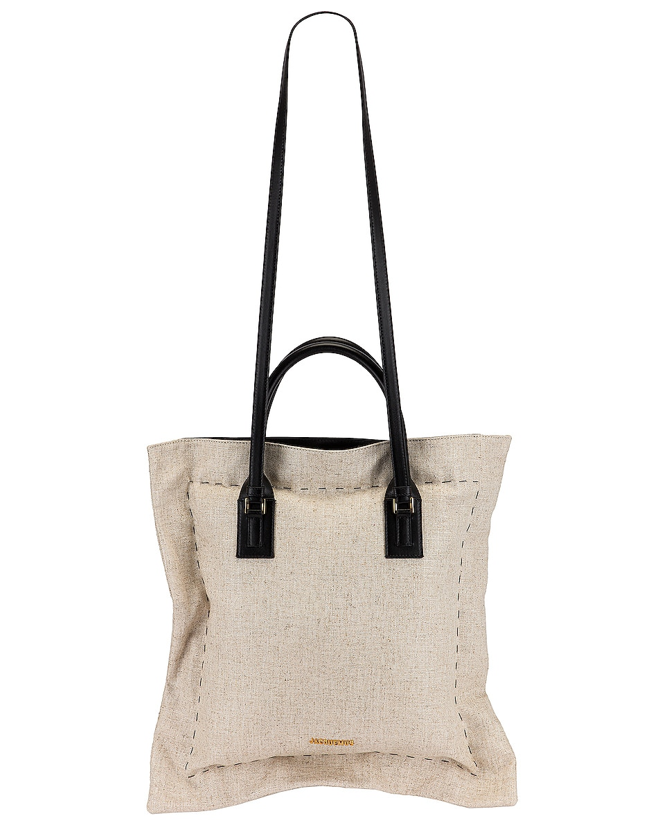 Image 1 of JACQUEMUS Le Coussin Bag in Dark Beige