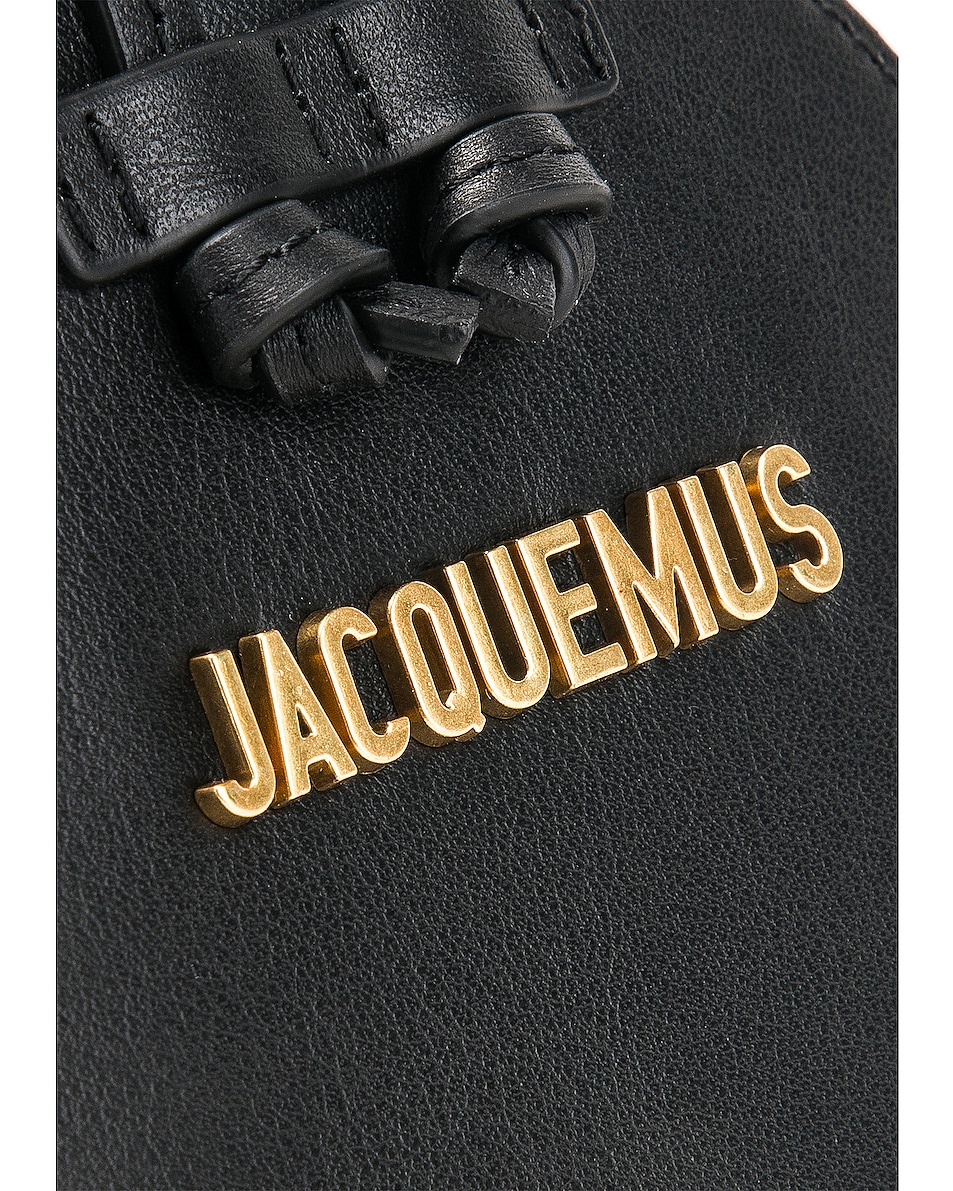 Image 7 of JACQUEMUS Pouch in Black Leather