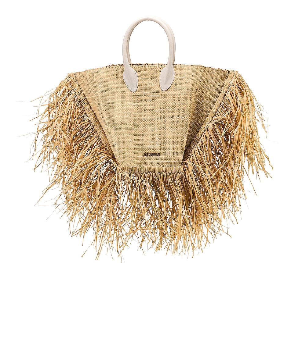 Image 1 of JACQUEMUS Baci Bag in Beige Leather