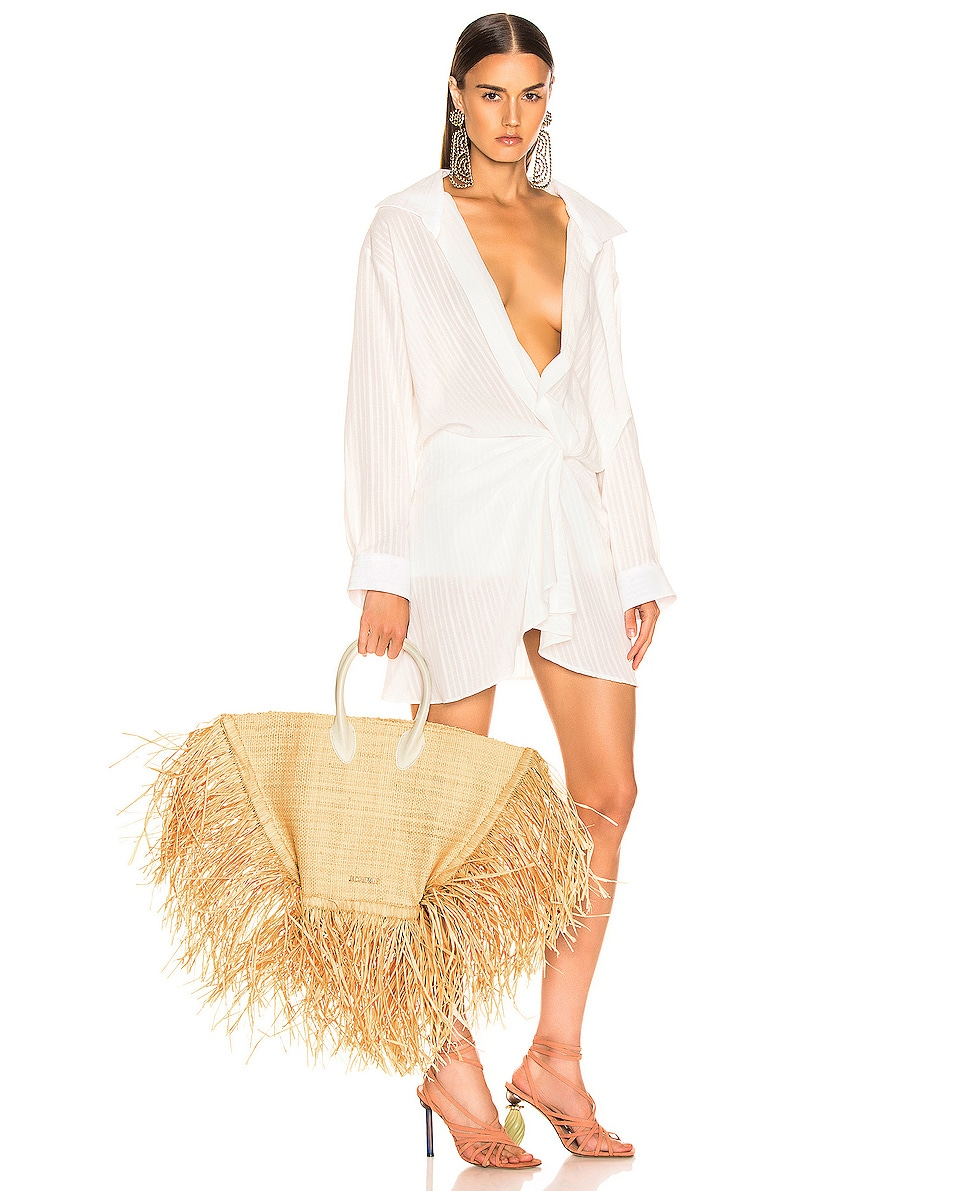 Image 2 of JACQUEMUS Baci Bag in Beige Leather
