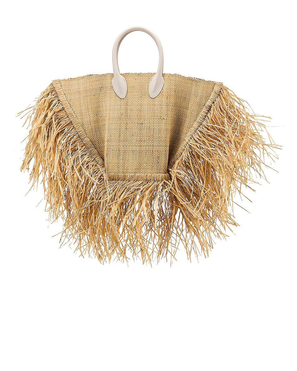 Image 3 of JACQUEMUS Baci Bag in Beige Leather