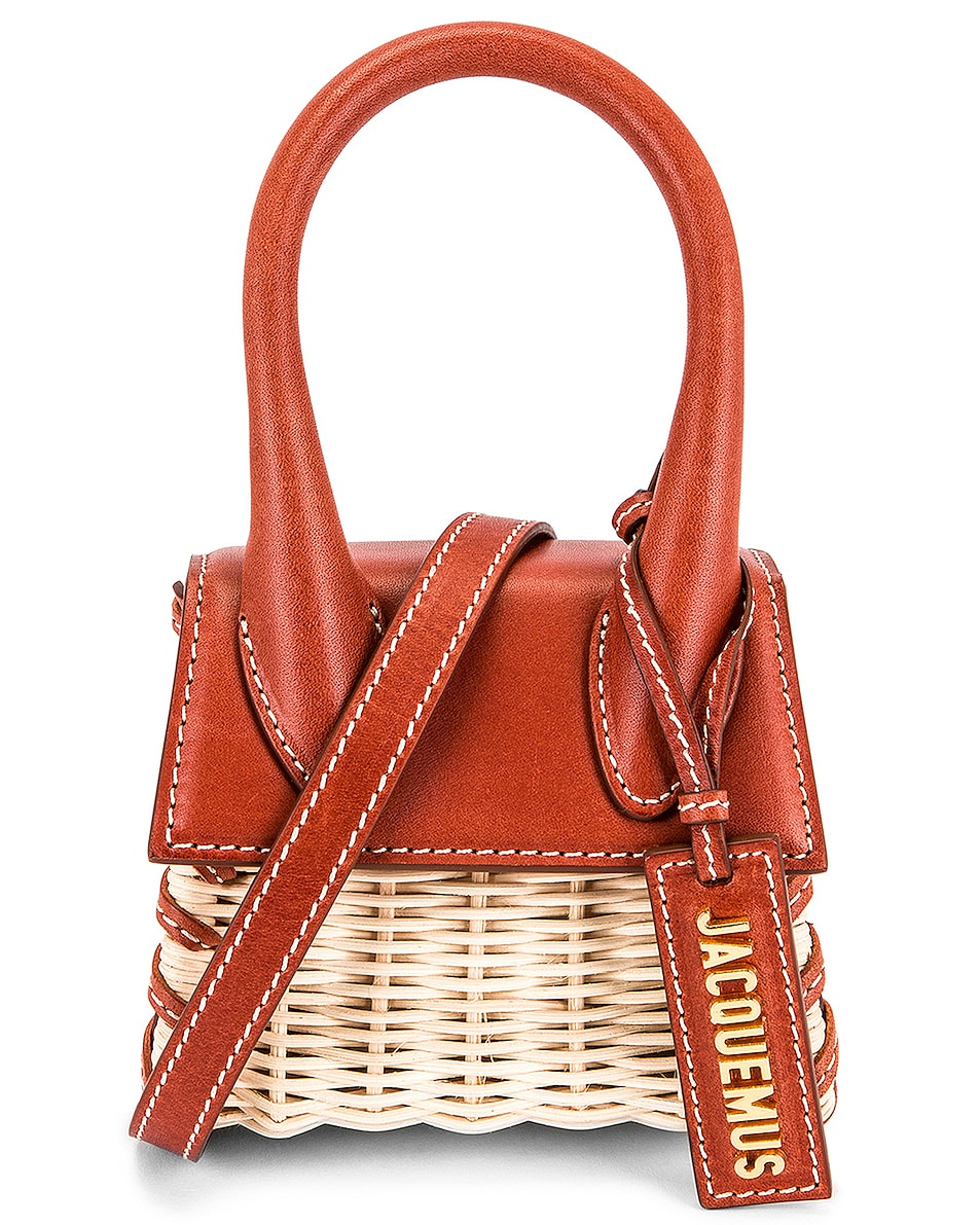 Image 1 of JACQUEMUS Le Chiquito Bag in Dark Red