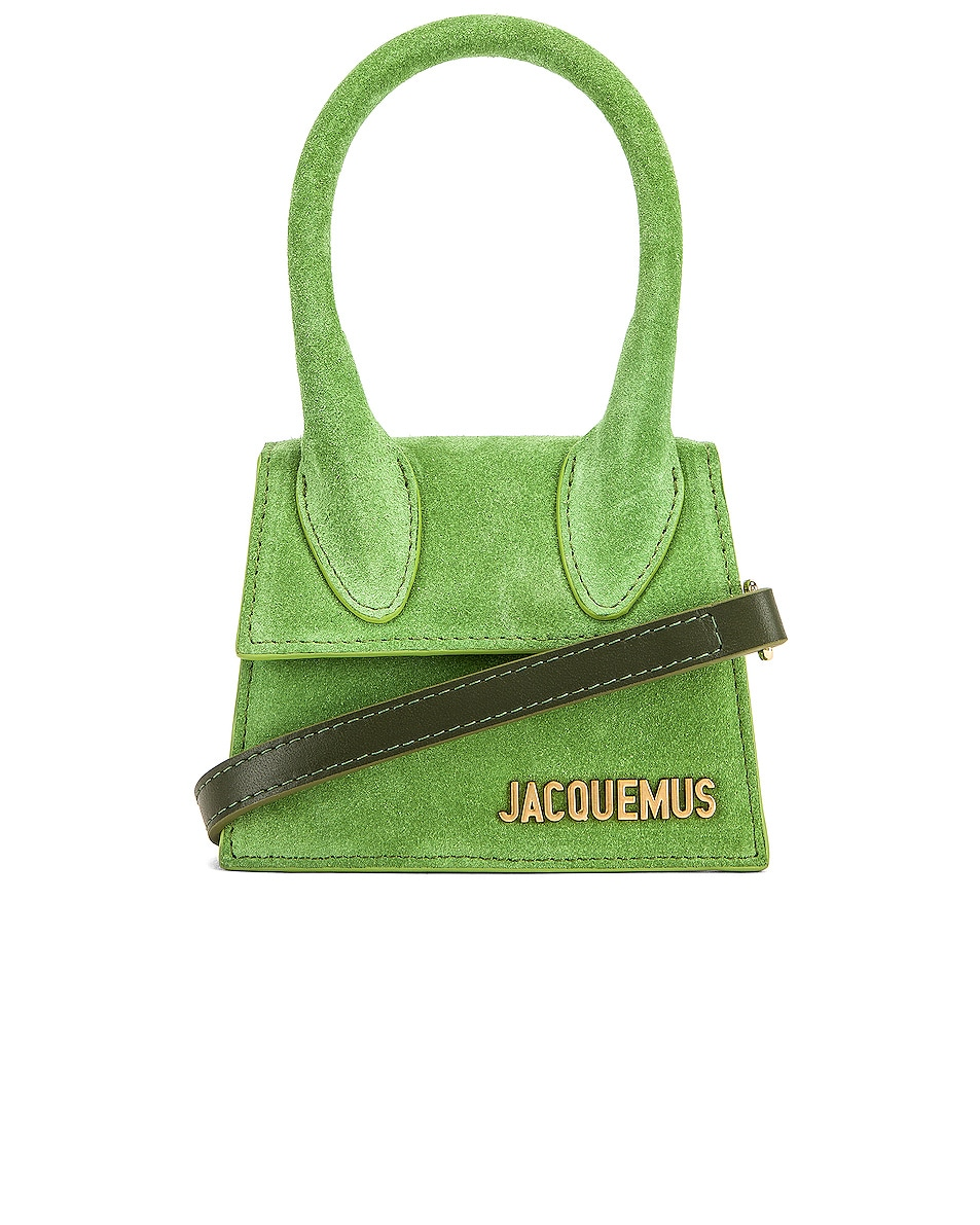 Image 1 of JACQUEMUS Chiquito Bag in Green Suede