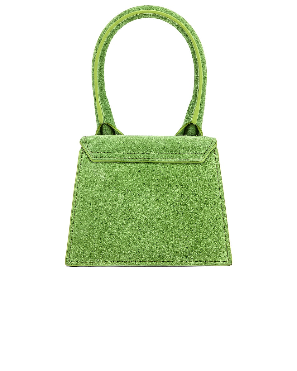 Image 3 of JACQUEMUS Chiquito Bag in Green Suede