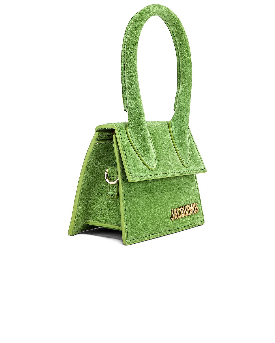 Image 4 of JACQUEMUS Chiquito Bag in Green Suede