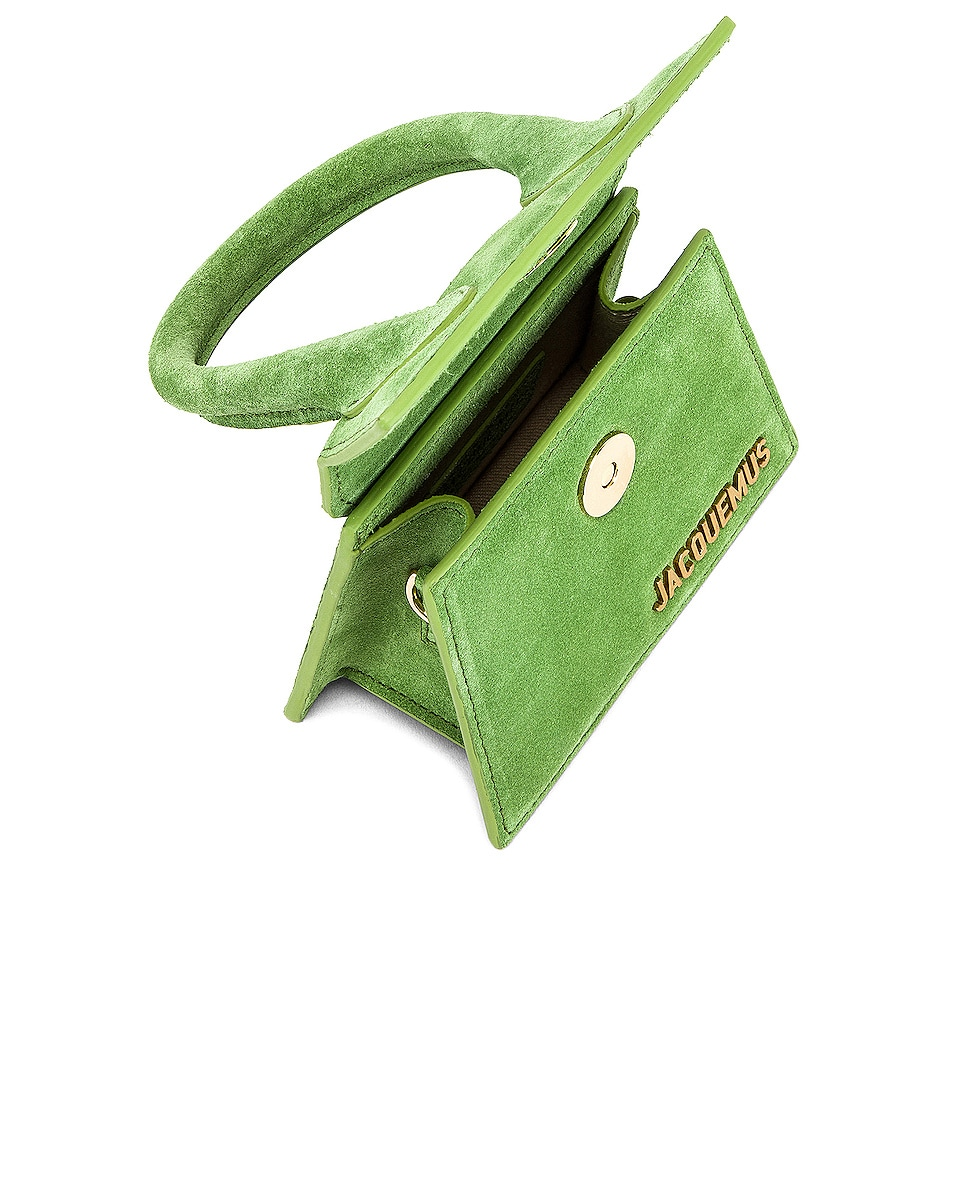 Image 5 of JACQUEMUS Chiquito Bag in Green Suede