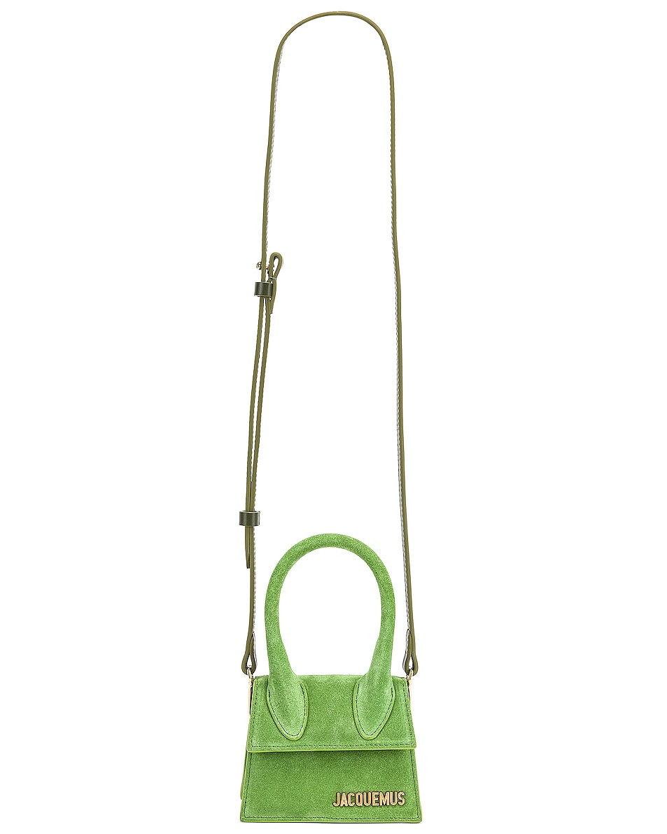 Image 6 of JACQUEMUS Chiquito Bag in Green Suede