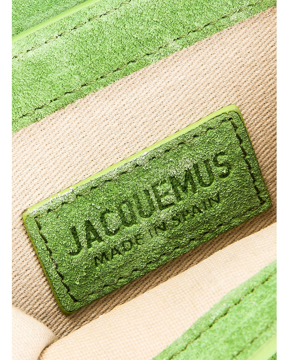 Image 7 of JACQUEMUS Chiquito Bag in Green Suede