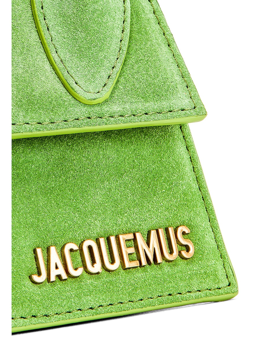 Image 8 of JACQUEMUS Chiquito Bag in Green Suede