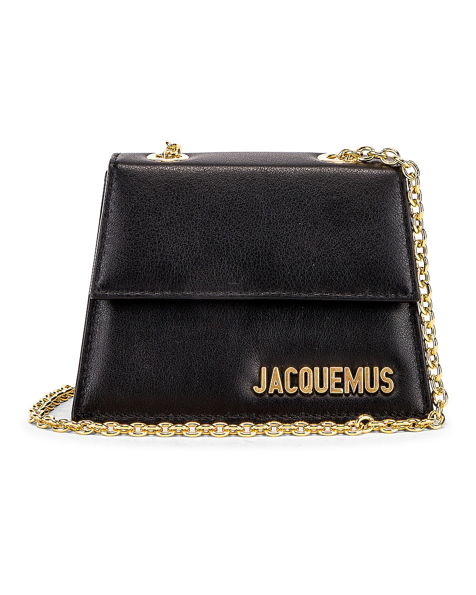 Image 1 of JACQUEMUS Piccolo Bag in Black Leather