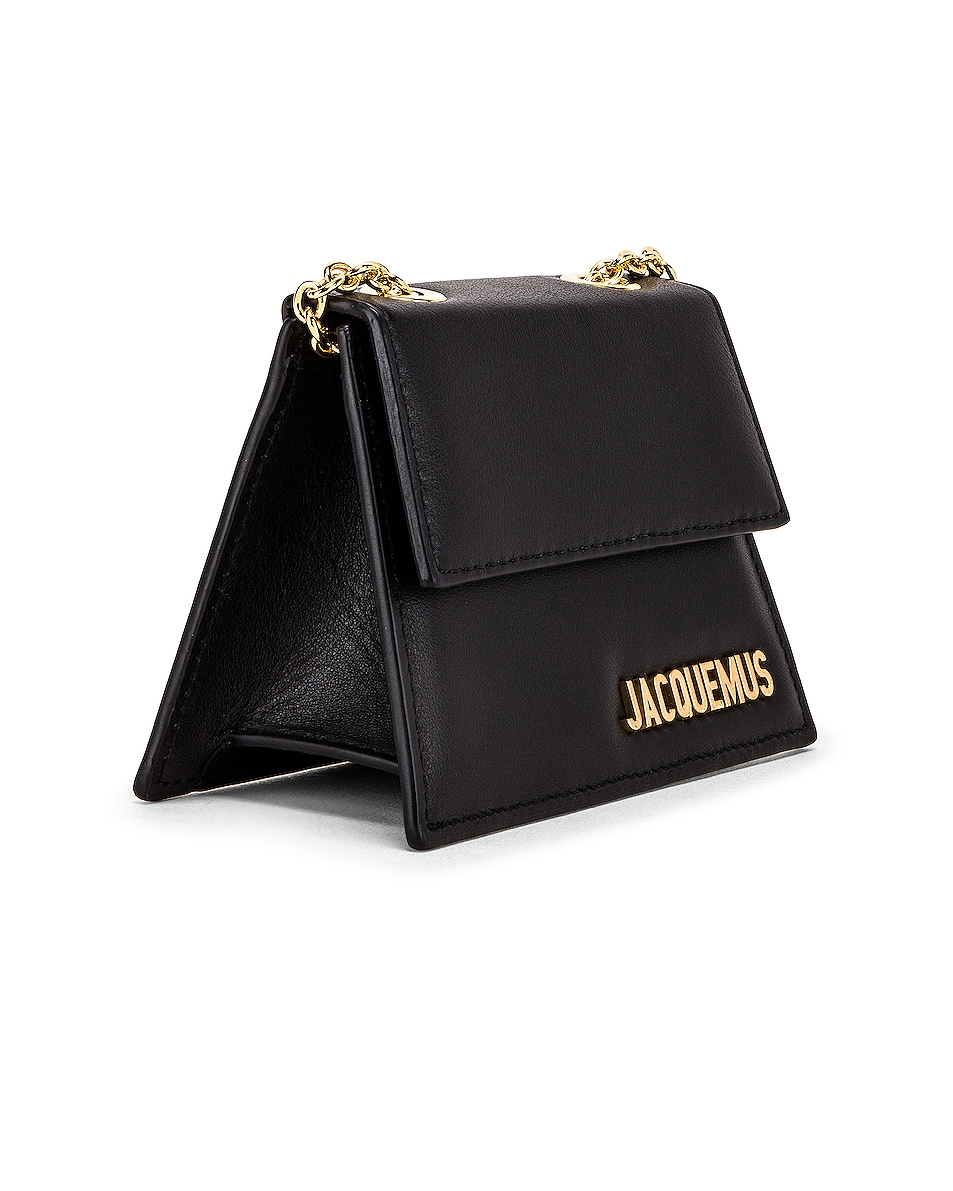 Image 4 of JACQUEMUS Piccolo Bag in Black Leather