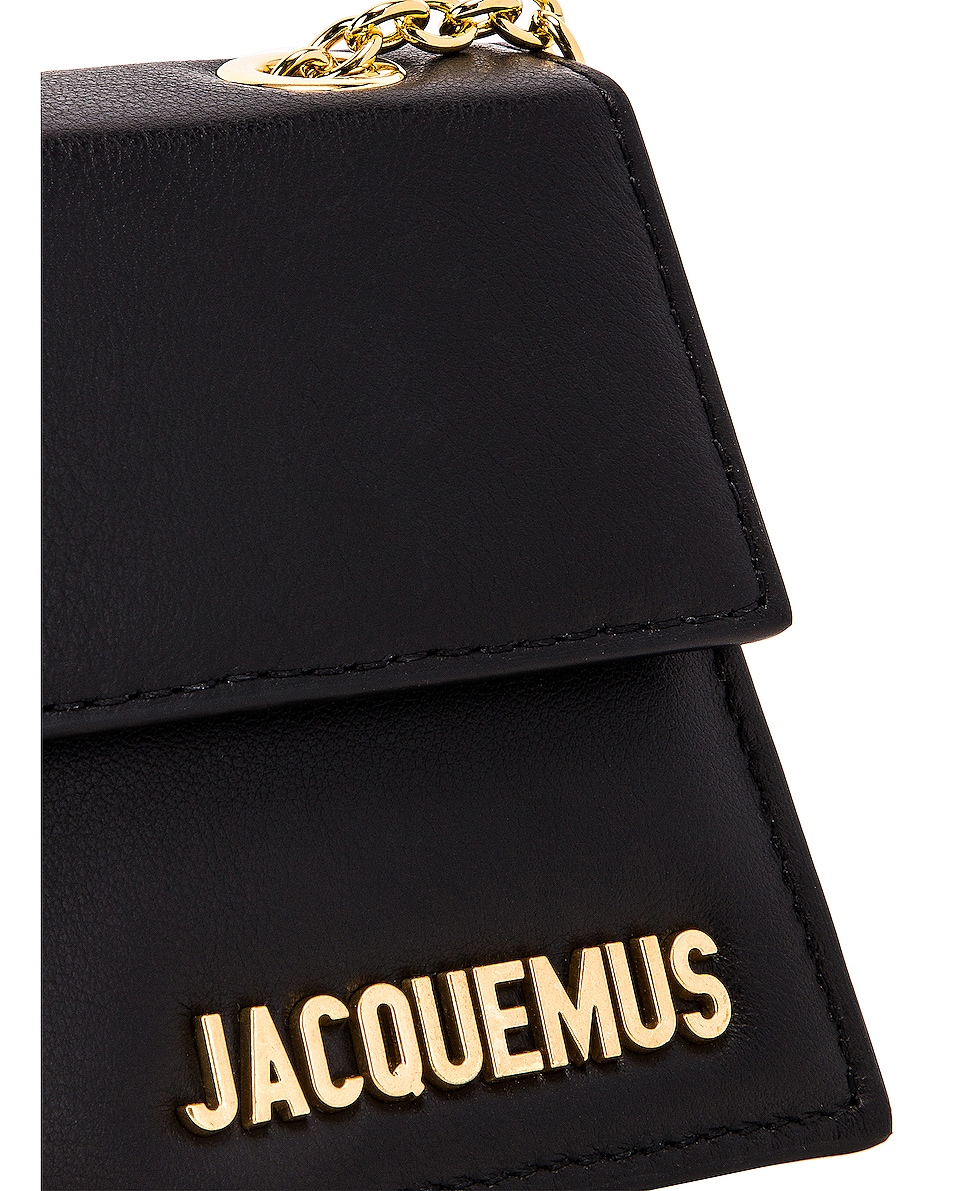 Image 8 of JACQUEMUS Piccolo Bag in Black Leather