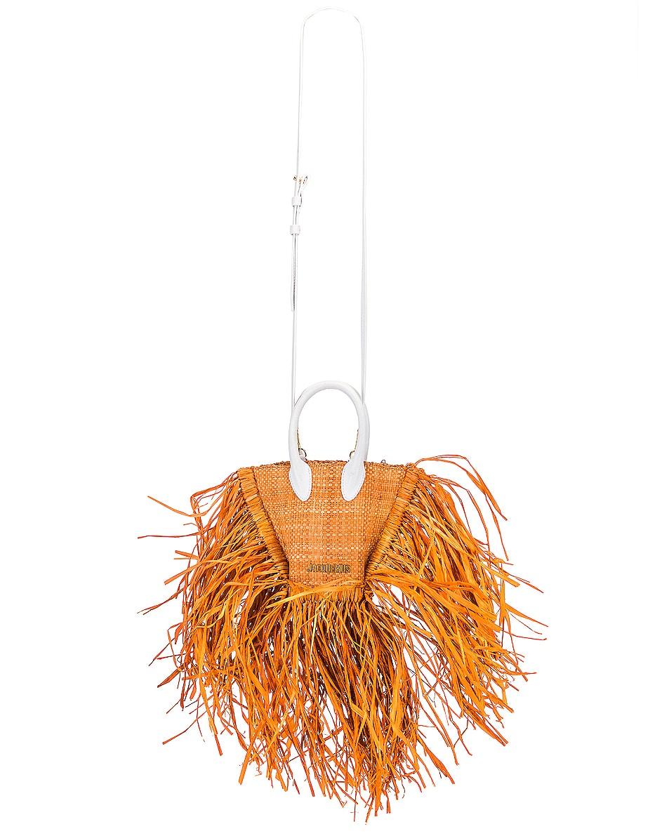 Image 6 of JACQUEMUS Le Petit Baci Bag in Terracotta
