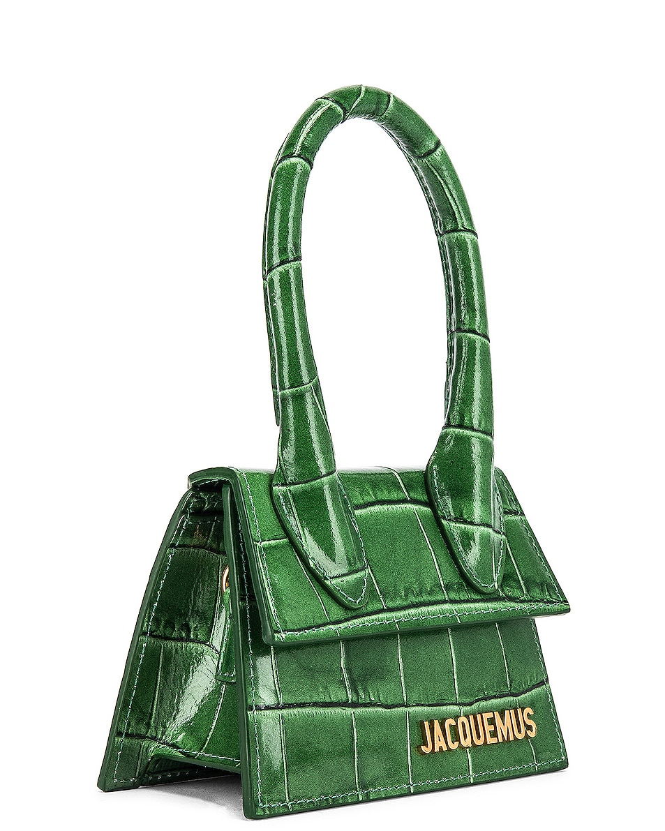 Image 3 of JACQUEMUS Le Chiquito Bag in Dark Green