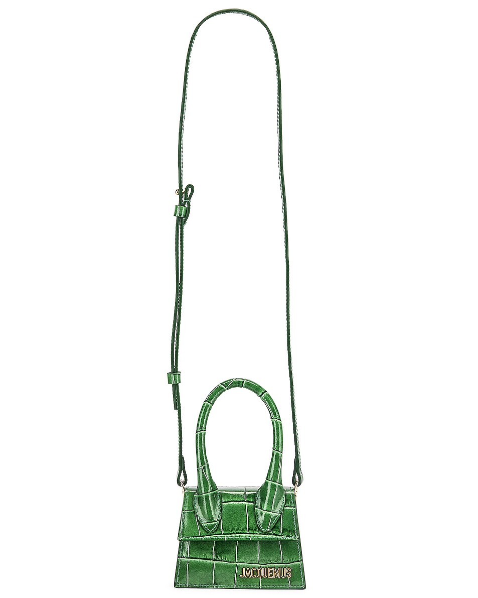 Image 5 of JACQUEMUS Le Chiquito Bag in Dark Green