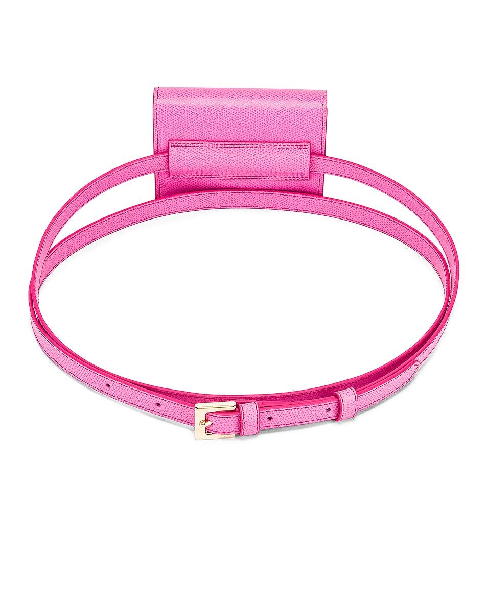 Image 3 of JACQUEMUS Bello Belt Bag in Pink