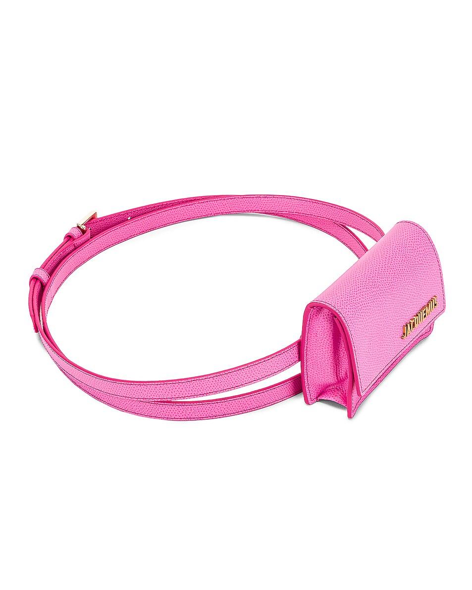 Image 4 of JACQUEMUS Bello Belt Bag in Pink