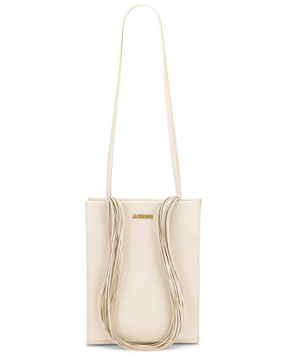 Image 6 of JACQUEMUS A4 Tote Bag in Off White
