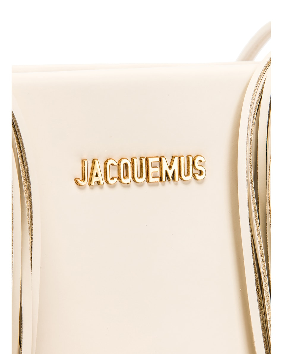 Image 8 of JACQUEMUS A4 Tote Bag in Off White