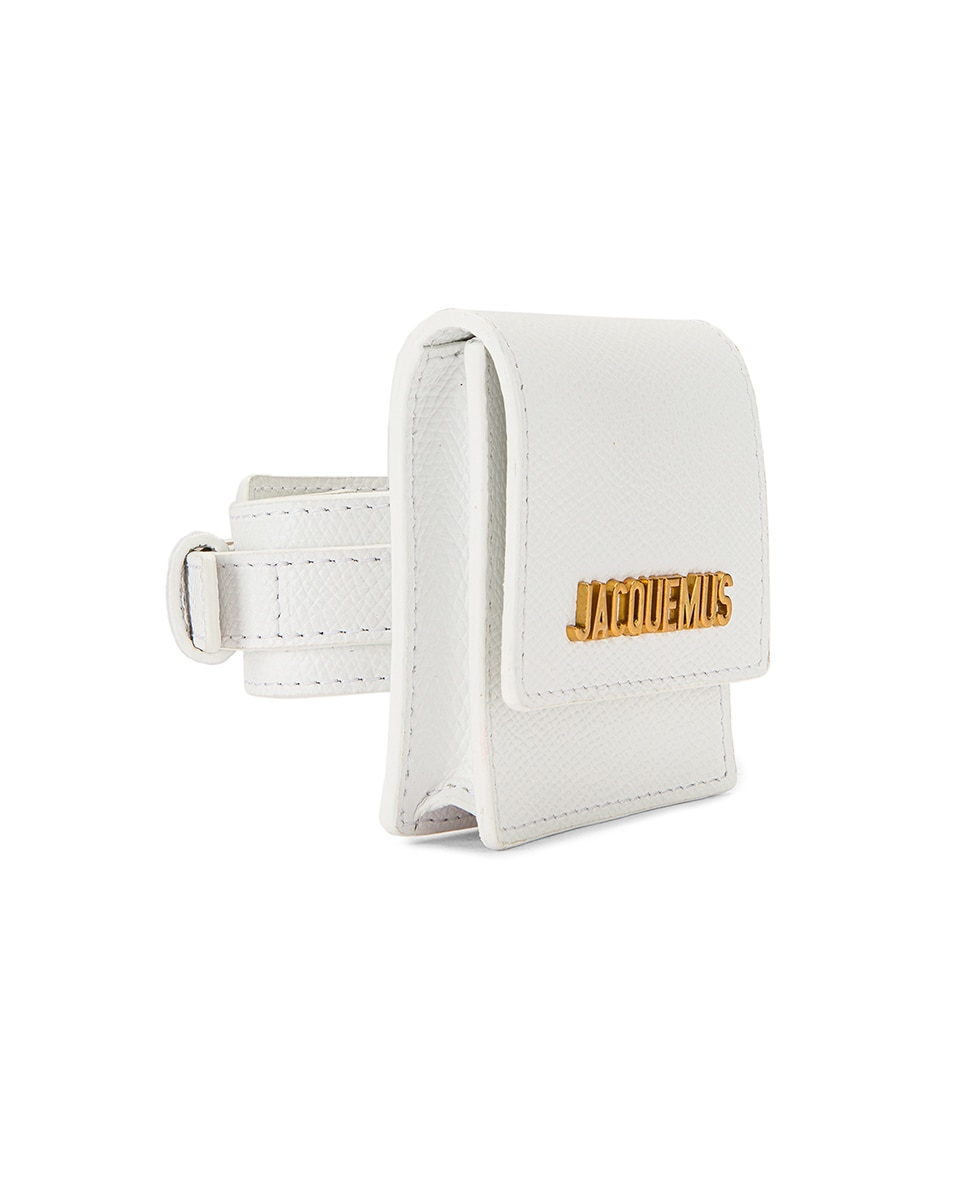 Image 4 of JACQUEMUS Le Sac Bracelet in White