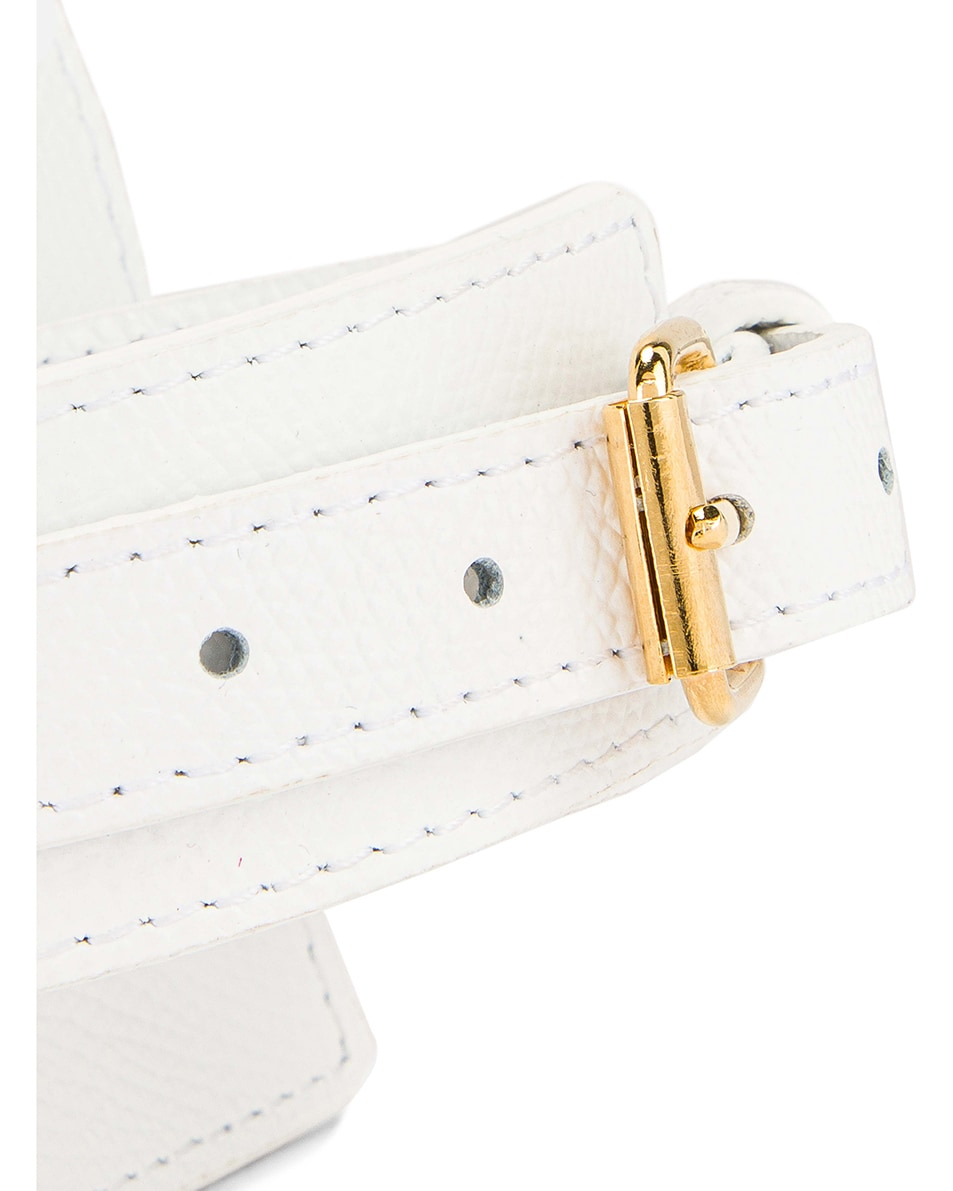 Image 7 of JACQUEMUS Le Sac Bracelet in White