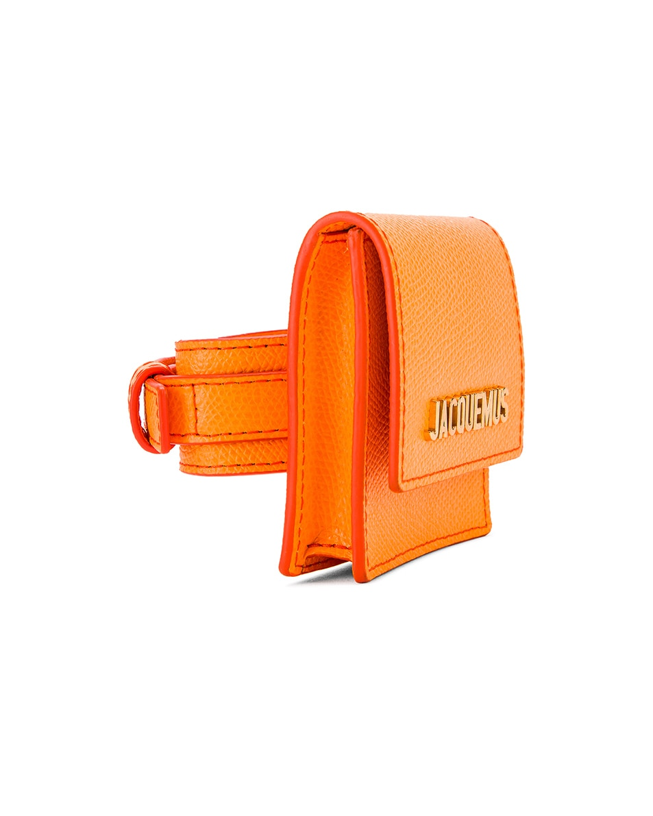 Image 4 of JACQUEMUS Le Sac Bracelet in Orange