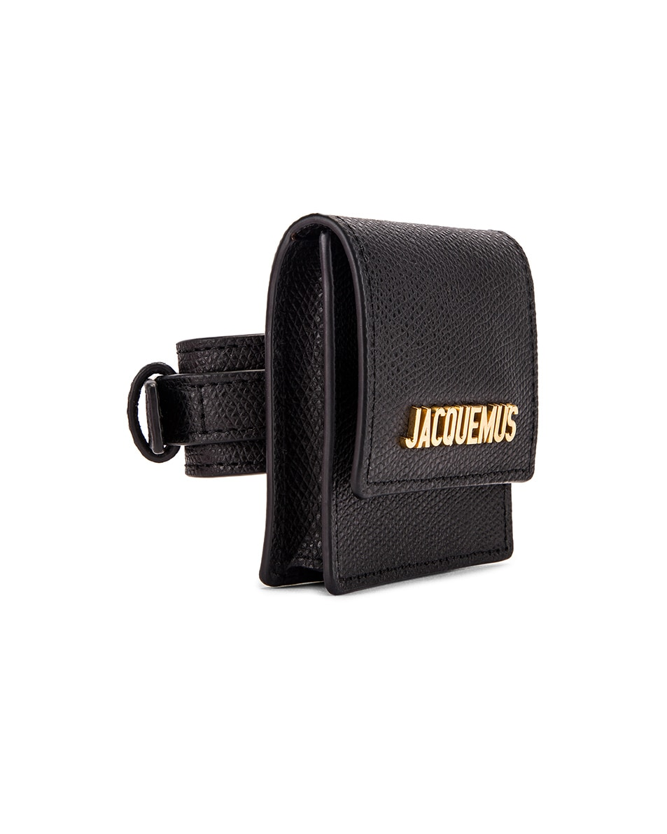 Image 4 of JACQUEMUS Le Sac Bracelet in Black