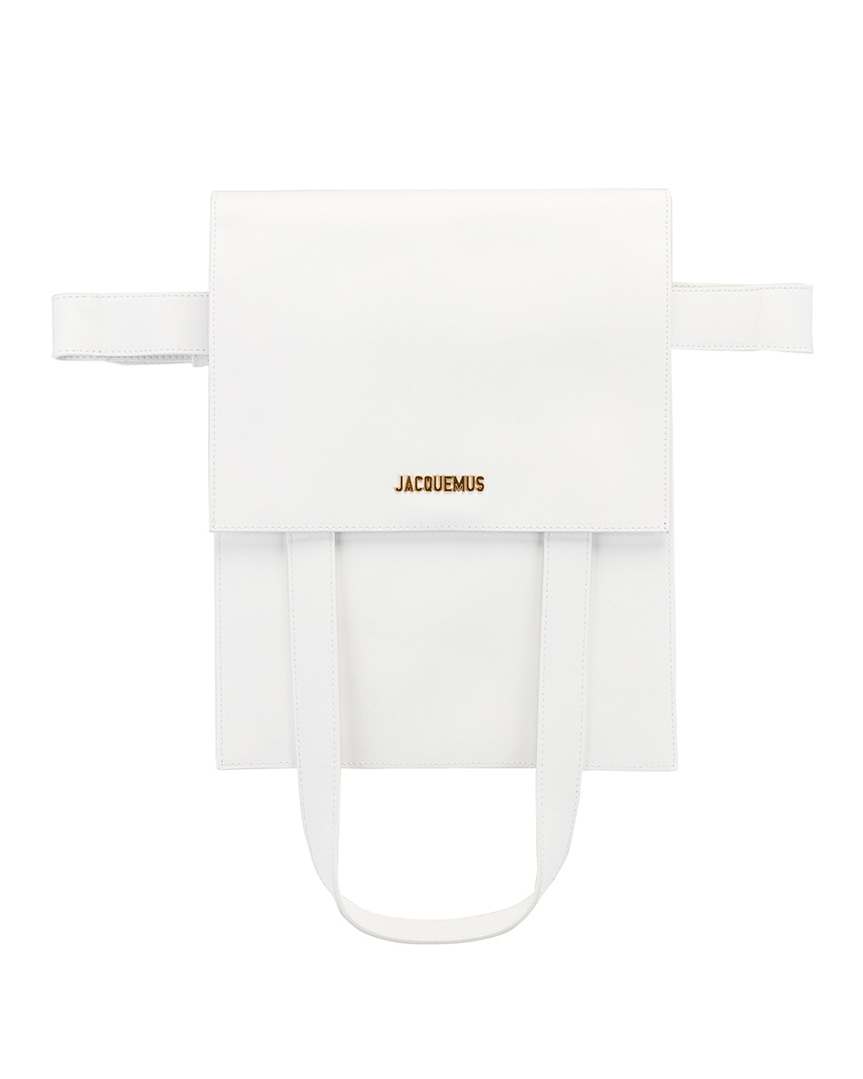 Image 1 of JACQUEMUS Le Sac Murano in White