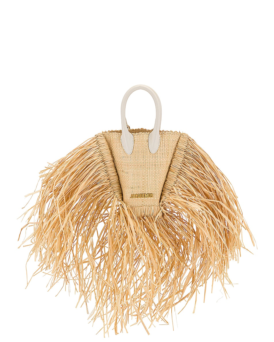 Image 1 of JACQUEMUS Le Petit Baci Bag in Natural