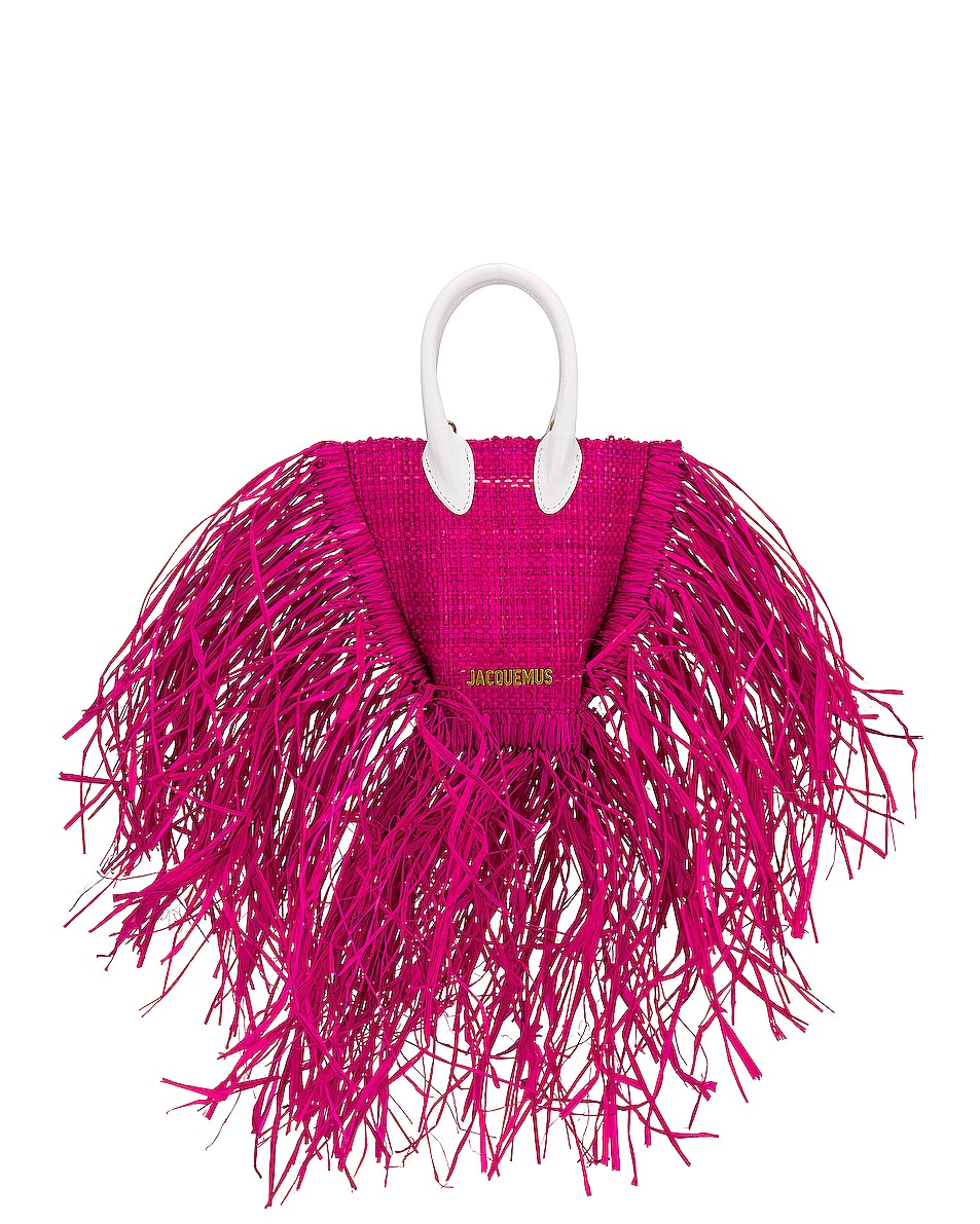Image 1 of JACQUEMUS Le Petit Baci Bag in Fuchsia