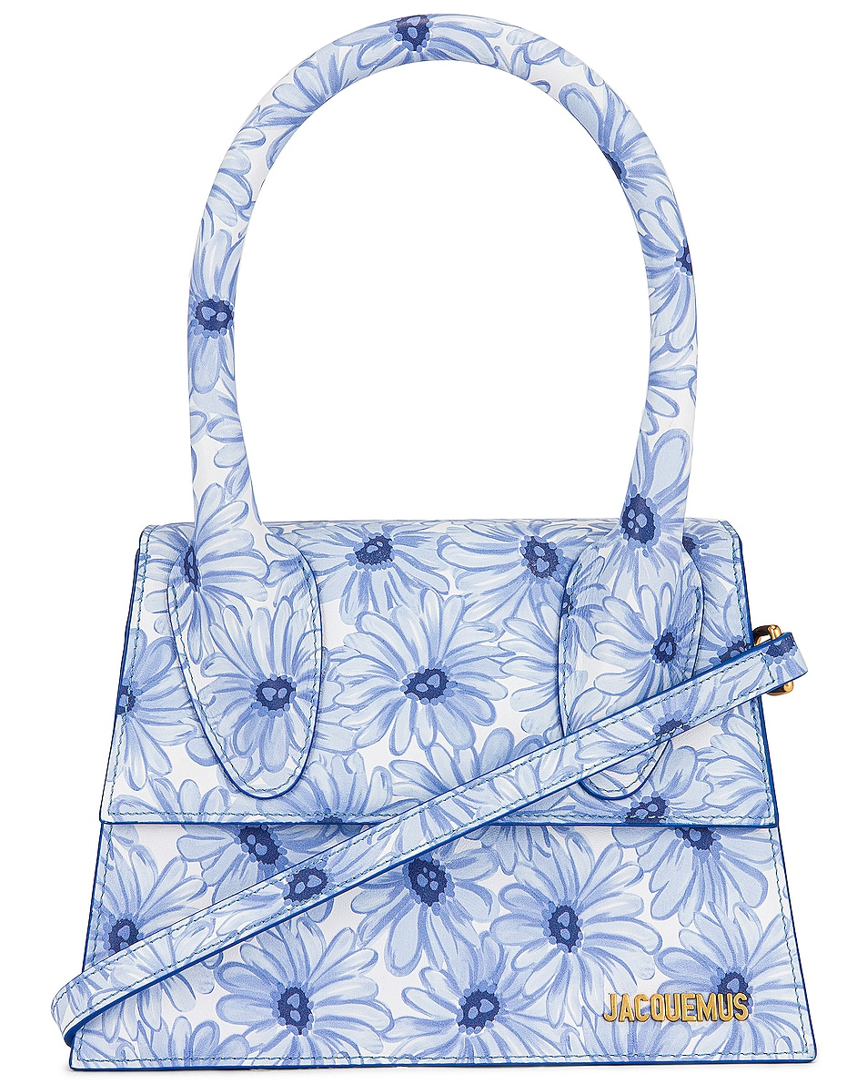 Image 1 of JACQUEMUS Le Grand Chiquito Bag in Print Blue Flowers