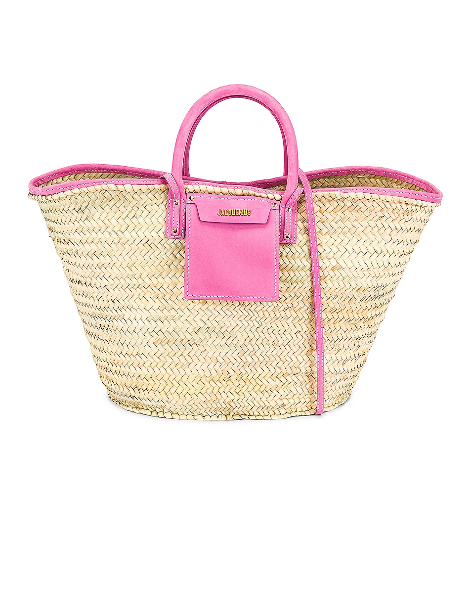 Image 1 of JACQUEMUS Le Grand Panier Soleil Bag in Pink