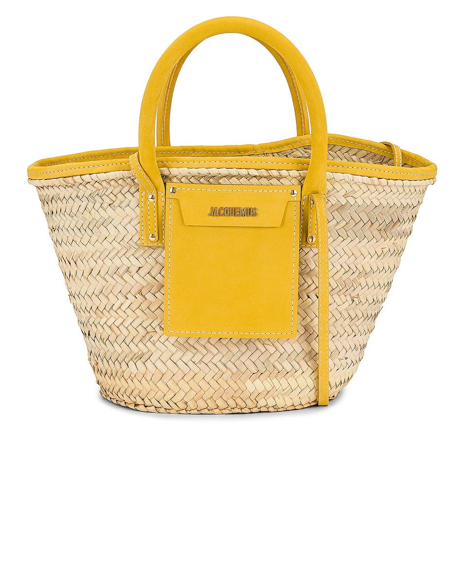 Image 1 of JACQUEMUS Le Panier Soleil Bag in Yellow