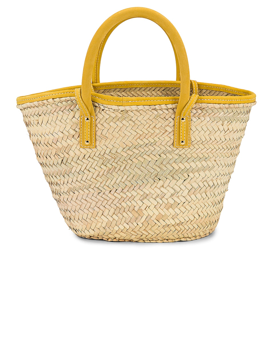 Image 3 of JACQUEMUS Le Panier Soleil Bag in Yellow