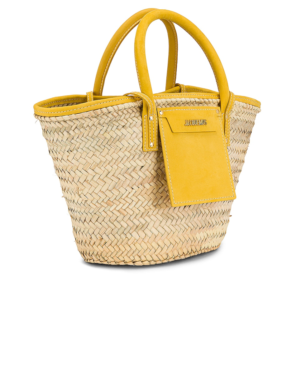Image 4 of JACQUEMUS Le Panier Soleil Bag in Yellow