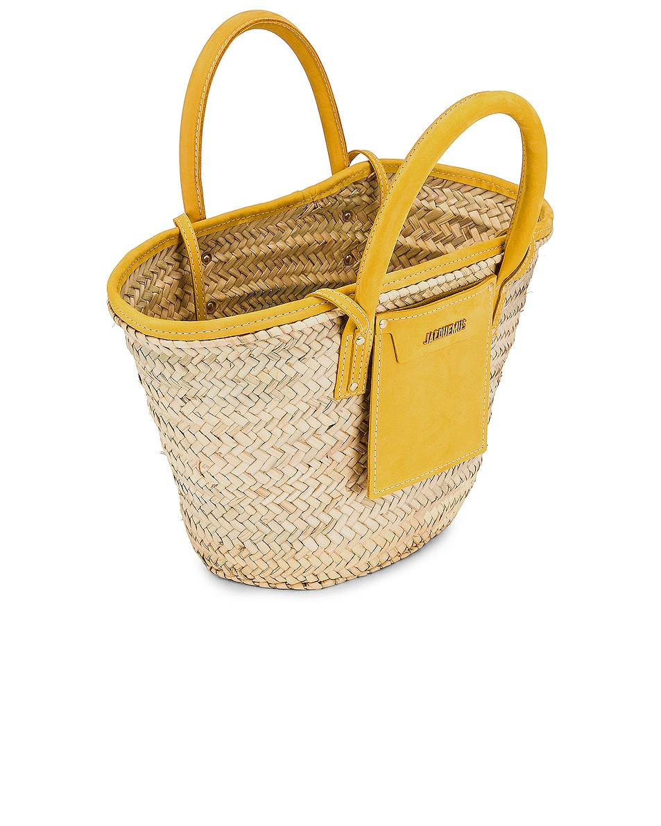 Image 5 of JACQUEMUS Le Panier Soleil Bag in Yellow