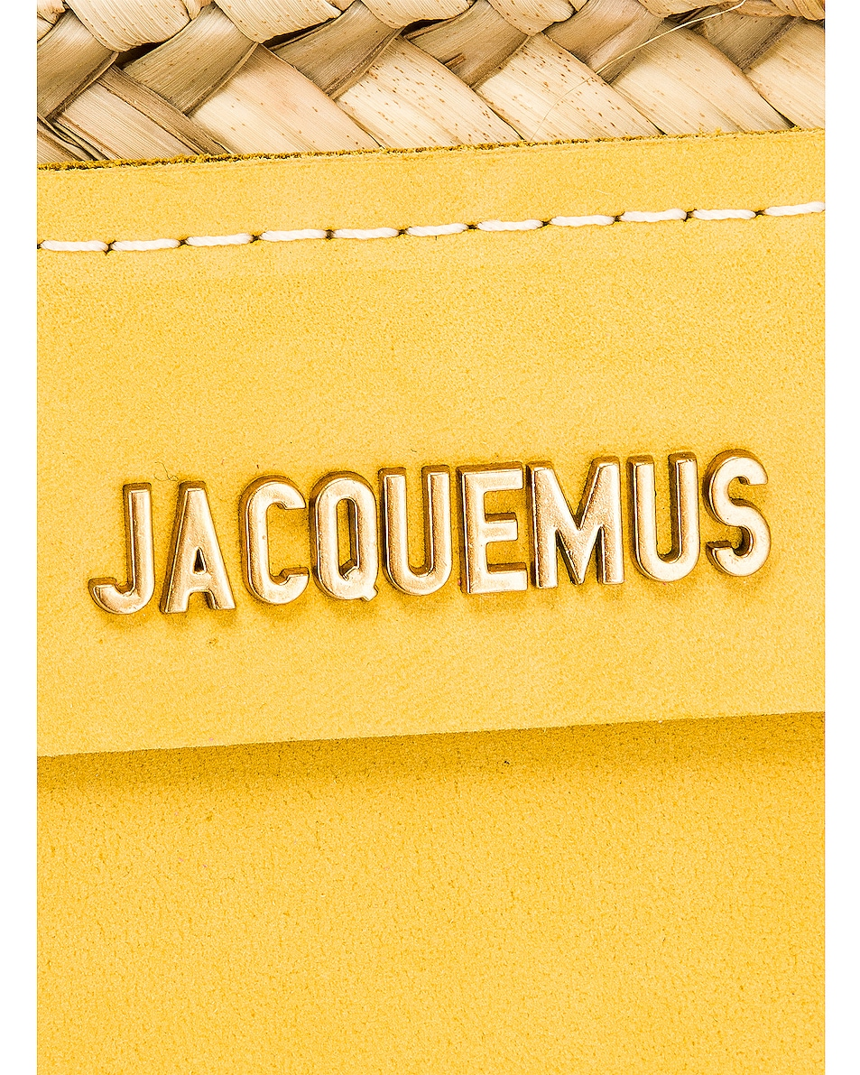 Image 7 of JACQUEMUS Le Panier Soleil Bag in Yellow