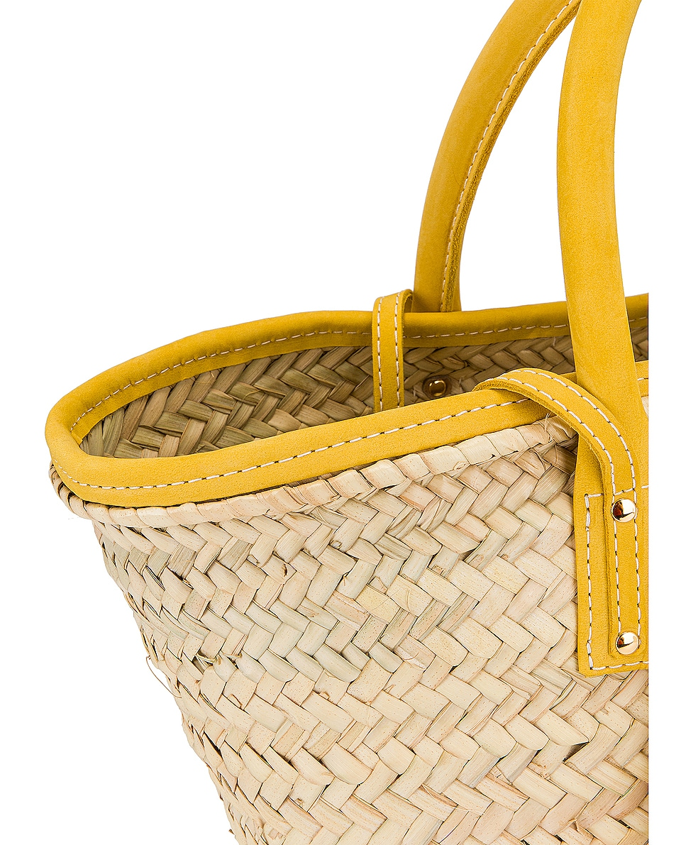 Image 8 of JACQUEMUS Le Panier Soleil Bag in Yellow