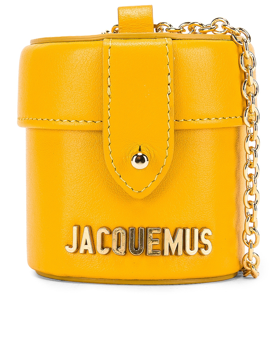Image 1 of JACQUEMUS Vanity Bag in Yellow Leather