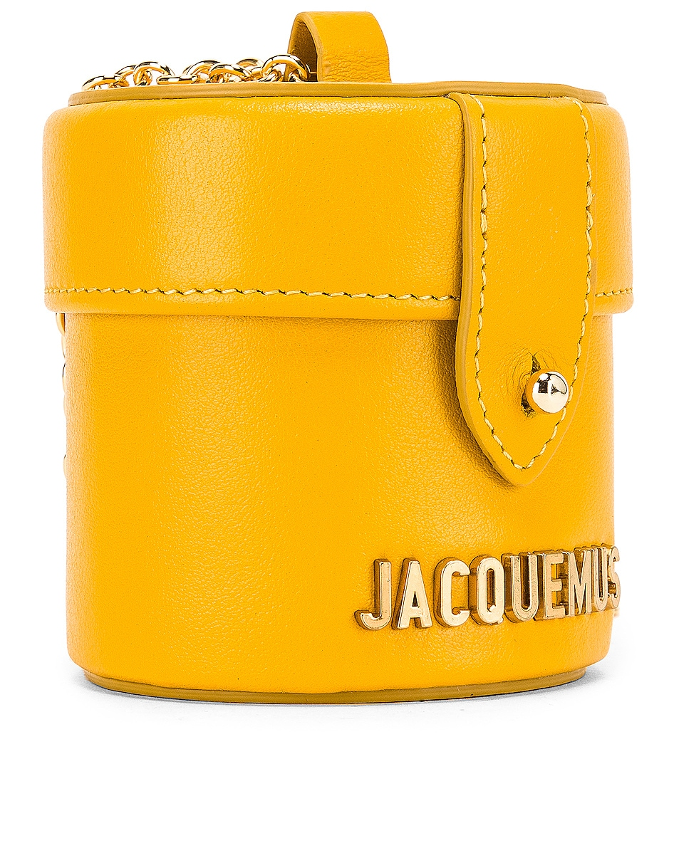Image 4 of JACQUEMUS Vanity Bag in Yellow Leather