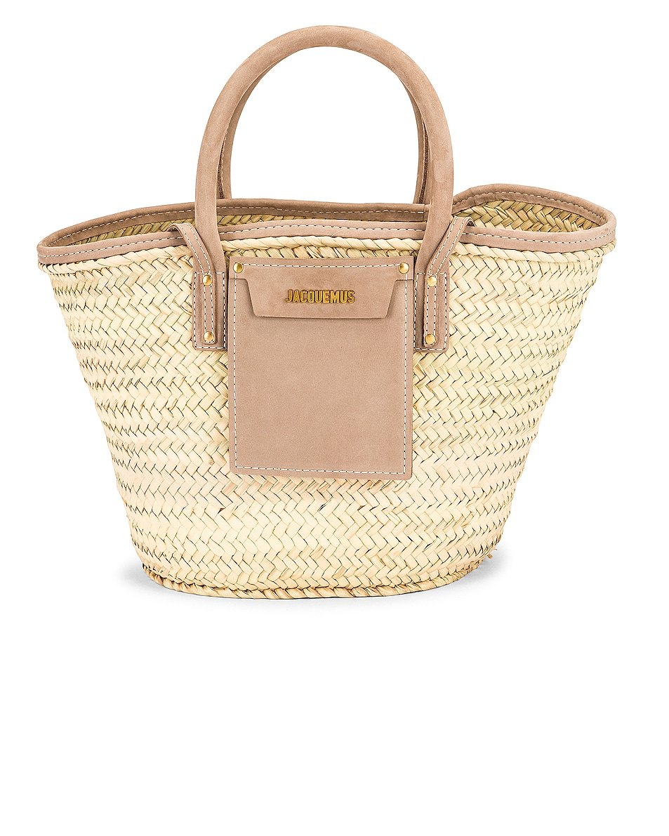 Image 1 of JACQUEMUS Le Panier Soleil Bag in Brown