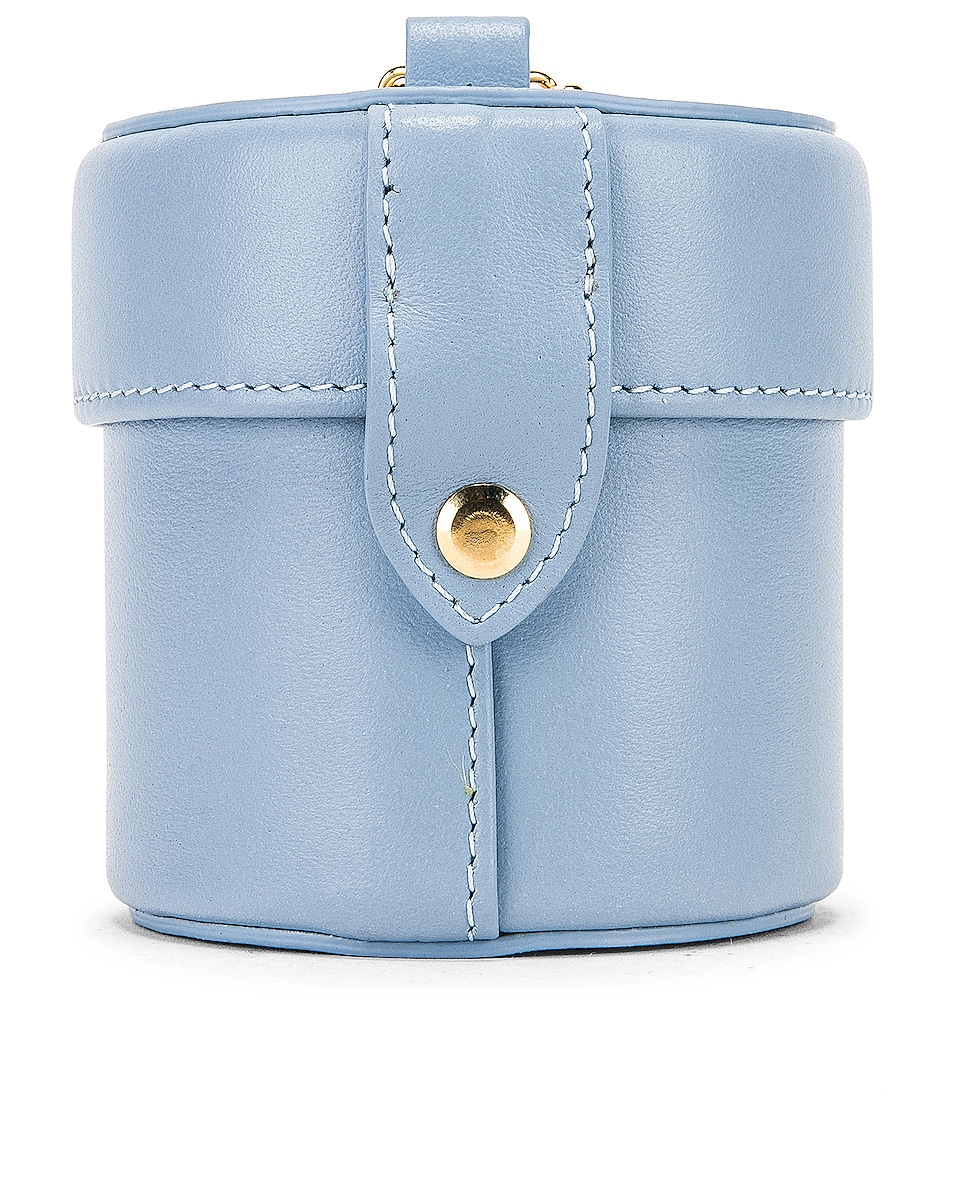 Image 3 of JACQUEMUS Vanity Bag in Light Blue Leather