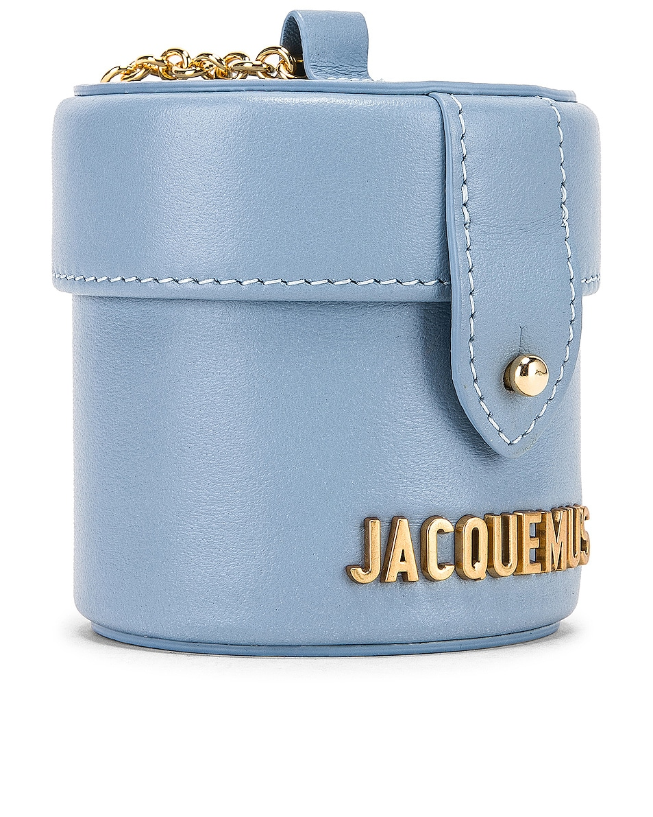 Image 4 of JACQUEMUS Vanity Bag in Light Blue Leather