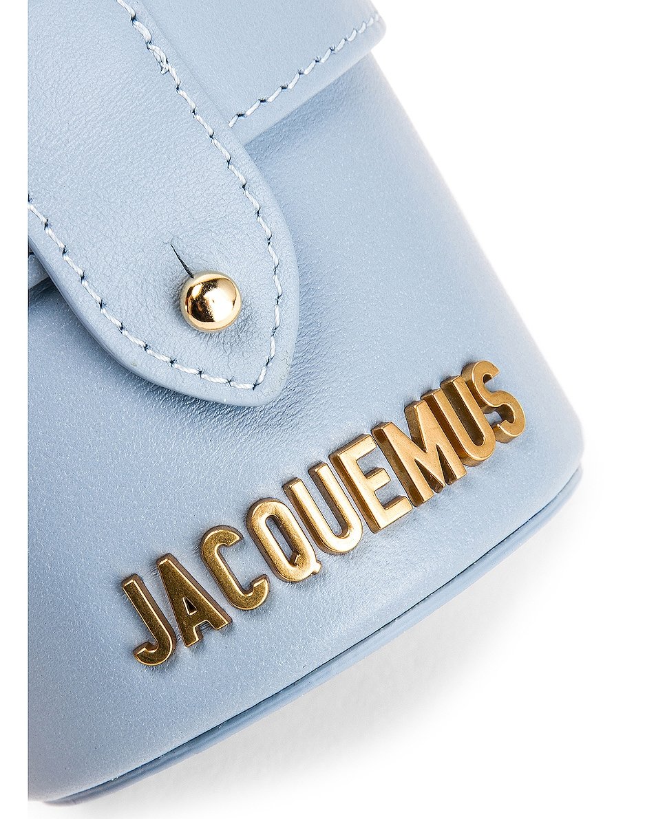 Image 8 of JACQUEMUS Vanity Bag in Light Blue Leather