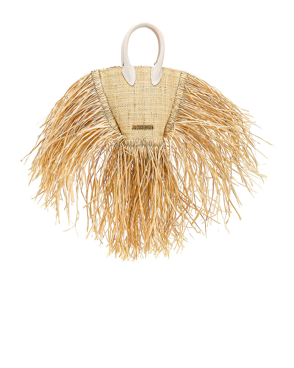 Image 1 of JACQUEMUS Petit Baci Bag in Beige Leather