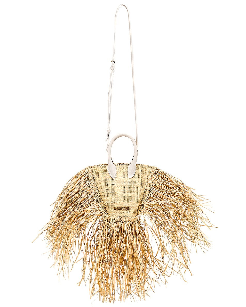 Image 6 of JACQUEMUS Petit Baci Bag in Beige Leather