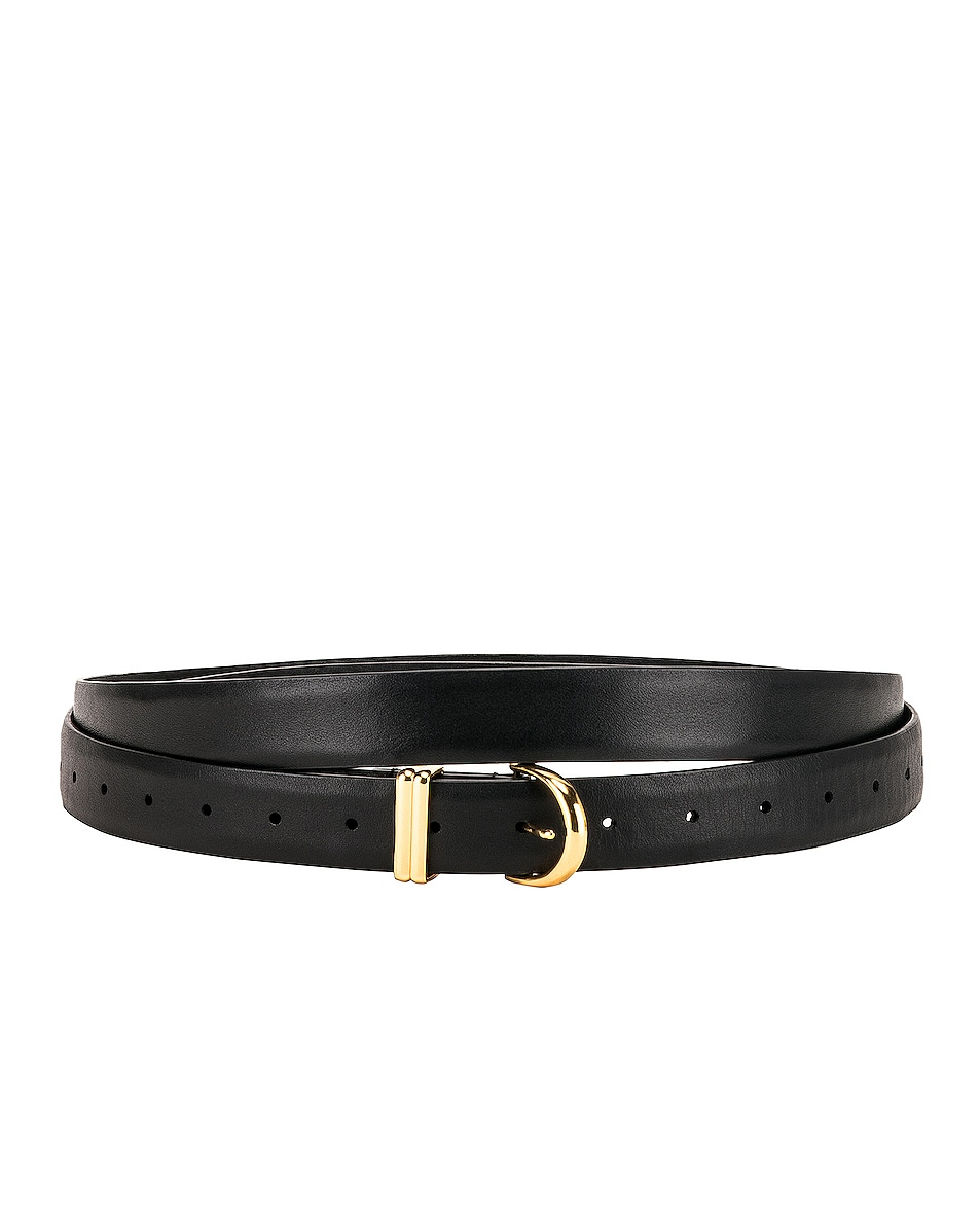 Image 2 of KHAITE Brooke Double Wrap Belt in Black