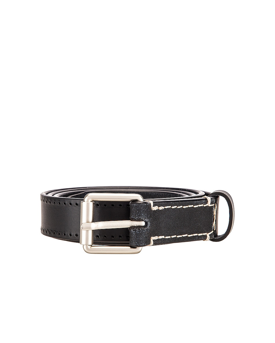 Image 1 of Lemaire Reversed Thin Belt in Black