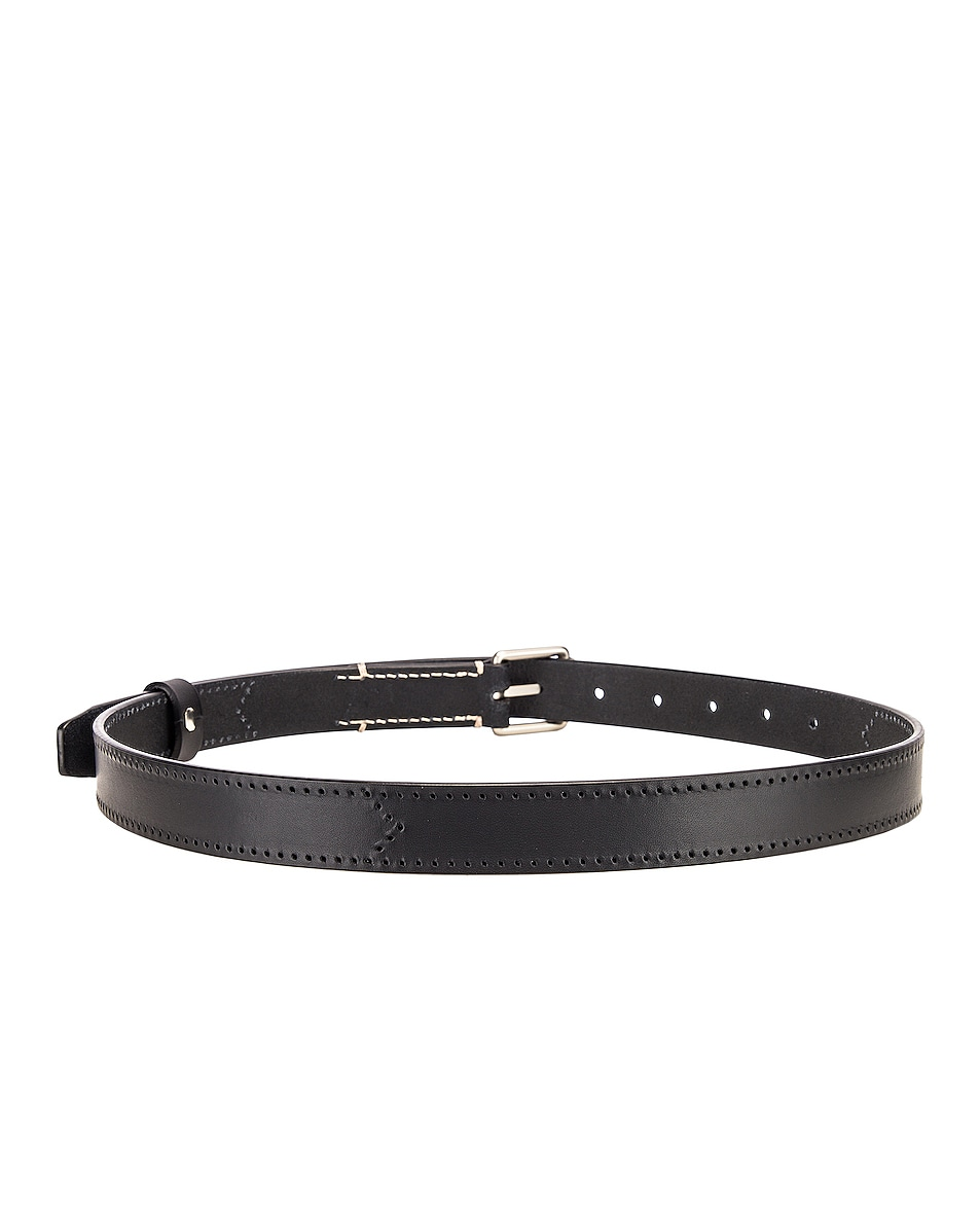 Image 3 of Lemaire Reversed Thin Belt in Black